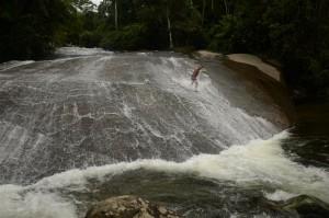 Cachoeira do Tobogã. Cachoeiras na Paraty-Cunha